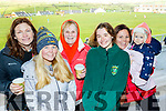 Attending the West Kerry Minor Championship Final in Lispole GAA ground last Saturday afternoon were L-R Brenda Ui Chathasaigh, Emma Fitzgerald, Annette O'Flaherty, Brenna O'Neill with Sheryey&Eabha Cleary.