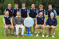 The Laytown &amp; Bettystown team during for the AIG Cups &amp; Shields Finals in Royal Tara Golf Club on Wednesday 18th September 2013.<br /> Picture:  Thos Caffrey / www.golffile.ie