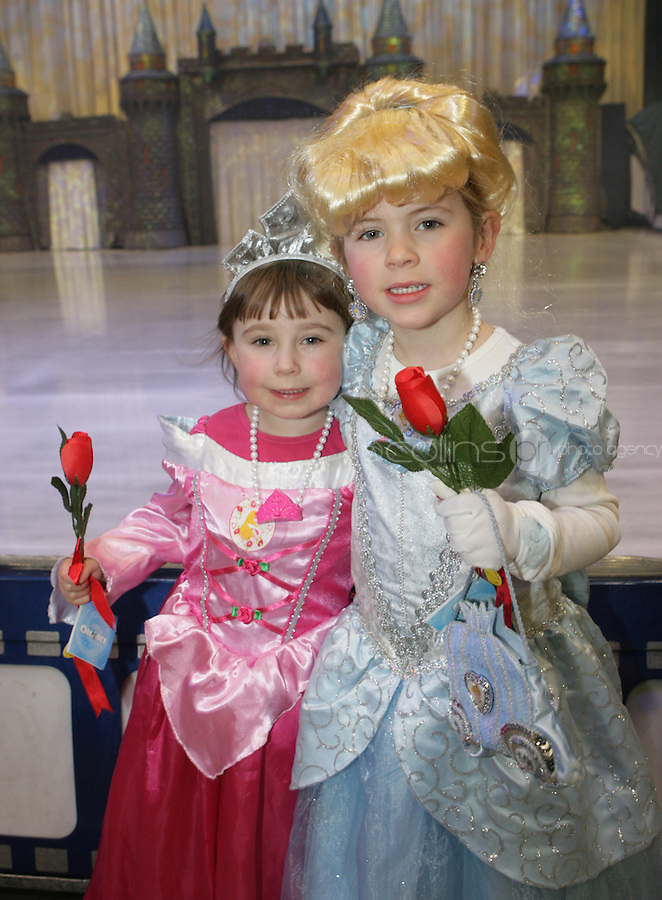 ***** NO FEE PIC*****.26/12/2010.Morgan Larkin (4) from Crumlin & Abbie Emmet (3) from Crumlin.during  Disney On Ice : 100 Years of Magic at the Citywest Hotel , Dublin..Disney on Ice runs from 26th December till the 2nd January 2011 with tickets available from Ticketmaster & Box Offices for all shows. .Photo: Gareth Chaney Collins