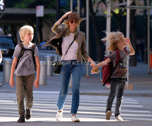 www.acepixs.com<br /> <br /> May 2 2017, New York City<br /> <br /> Actress Naomi Watts walks with her children Alexander Schreiber (L) and Samuel Schreiber walk in their Tribeca neighborhood on May 2 2017 in New York City<br /> <br /> By Line: Curtis Means/ACE Pictures<br /> <br /> <br /> ACE Pictures Inc<br /> Tel: 6467670430<br /> Email: info@acepixs.com<br /> www.acepixs.com