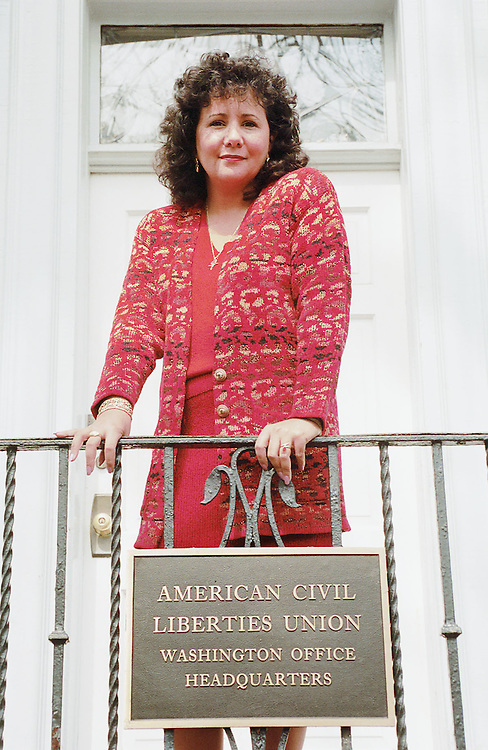 3/23/99.ACLU--Laura Murphy, Washington director of the American Civil Liberties Union, outside the headquarters on Maryland Ave. .CONGRESSIONAL QUARTERLY PHOTO BY SCOTT J. FERRELL