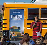 Washoe County Superintendent Traci Davis speaks at the Propane Education and Research Council Adopt a Classroom event at Lemmon Valley Elementary School on Tuesday, September 27, 2016.