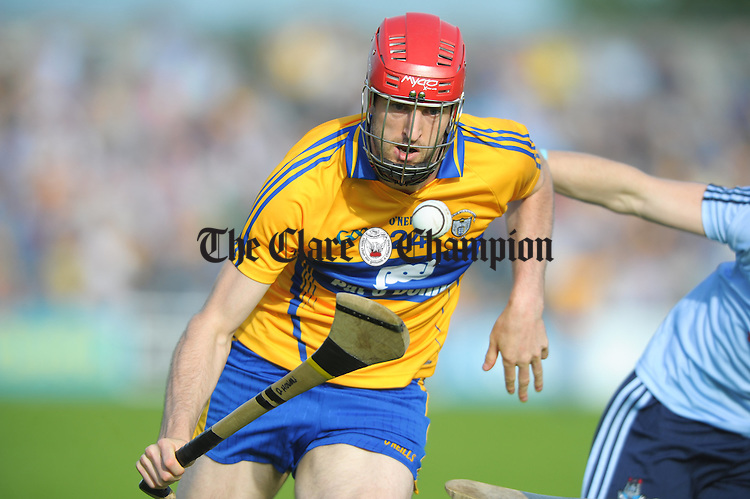 Darach Honan of Clare in action against  Dublin during their All-Ireland senior championship phase 2 qualifier at Cusack Park. Photograph  by John Kelly.