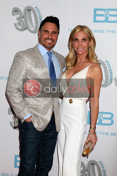 """Don Diamont, Cindy Ambuehl<br /> at the """"The Bold and The Beautiful"""" 30th Anniversary Party, Clifton's Downtown, Los Angeles, CA 03-18-17<br /> David Edwards/DailyCeleb.com 818-249-4998"""