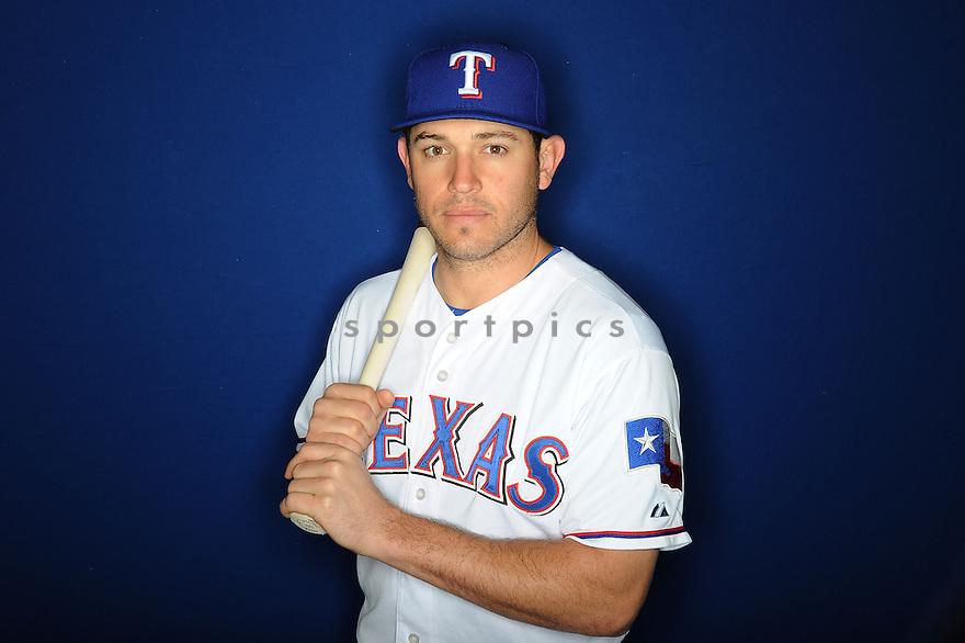 Texas Rangers Ian Kinsler (5) at media photo day during spring training on February 20, 2013 in Surprise, AZ