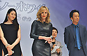 "Charlize Theron, Koyuki and Kippei Shiina, May 20, 2012 : Tokyo, Japan : (L-R)Actors Koyuki, Charlize Theron and Kippei Shiina attend a premiere event for the film ""Snow White & the Huntsman"" wearing a skin tight black leather dress in Tokyo, Japan, on May 20, 2012.the film will open June 15 in Japan."