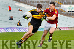 Jordan Kiely Dr Crokes in action against Enda O'Gorman St Joseph's Miltown Malbay during the AIB Munster GAA Football Senior Club Championship Final match between Dr. Crokes and St. Josephs Miltown Malbay at the Gaelic Grounds in Limerick on Sunday.