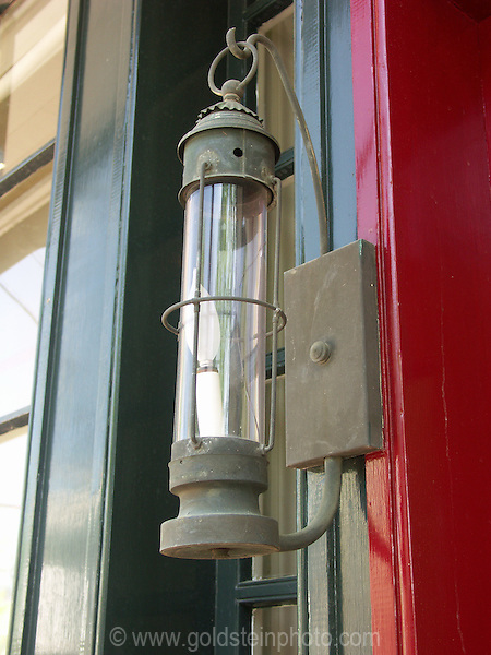 Porch light. Architectural details of homes and other buildings in Loudoun County area of Virginia.