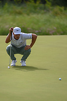 Thorbjorn Olesen (DEN) lines up his birdie putt on 14 during the round 1 of the AT&T Byron Nelson, Trinity Forest Golf Club, Dallas, Texas, USA. 5/9/2019.<br /> Picture: Golffile | Ken Murray<br /> <br /> <br /> All photo usage must carry mandatory copyright credit (© Golffile | Ken Murray)