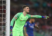 Chelsea's Kepa Arrizabalaga<br /> <br /> Photographer Rob Newell/CameraSport<br /> <br /> The Carabao Cup Final - Chelsea v Manchester City - Sunday 24th February 2019 - Wembley Stadium - London<br />  <br /> World Copyright © 2018 CameraSport. All rights reserved. 43 Linden Ave. Countesthorpe. Leicester. England. LE8 5PG - Tel: +44 (0) 116 277 4147 - admin@camerasport.com - www.camerasport.com
