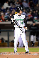Dayton Dragons shortstop Zach Vincej #4 during a game against the Bowling Green Hot Rods on April 20, 2013 at Fifth Third Field in Dayton, Ohio.  Dayton defeated Bowling Green 6-3.  (Mike Janes/Four Seam Images)