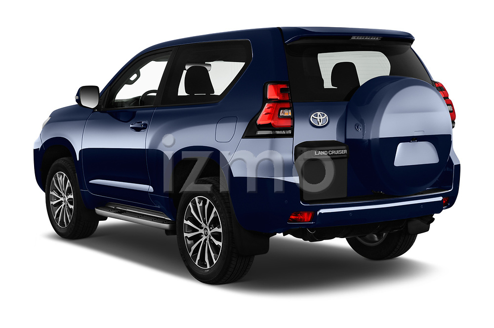 Car pictures of rear three quarter view of 2018 Toyota Land-Cruiser-150 Style 3 Door SUV Angular Rear