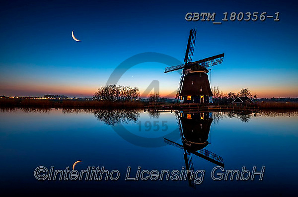 Tom Mackie, LANDSCAPES, LANDSCHAFTEN, PAISAJES, photos,+Dutch, Europa, Europe, European, Holland, Netherlands, Tom Mackie, atmosphere, atmospheric, blue hour, canal, canals, color,+colorful, colour, colourful, evening, horizontal, horizontals, landscape, landscapes, mood,moody, moon, night time, peace, pe+aceful, reflecting, reflection, reflections, scenery, scenic, serene, serenity, time of day, tourist attraction, tranquil, tr+anquility, twilight, water, water's edge, waterside, windmill, windmills,Dutch, Europa, Europe, European, Holland, Netherland+,GBTM180356-1,#l#, EVERYDAY