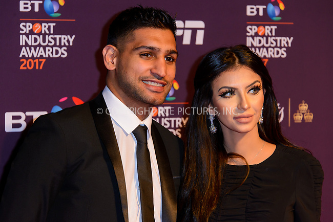 www.acepixs.com<br /> <br /> April 27 2017, London<br /> <br /> Amir Khan and Faryal Makhdoom arriving at the BT Sport Industry Awards at Battersea Evolution on the 27th April 2017 at Battersea Evolution, London<br /> <br /> By Line: Famous/ACE Pictures<br /> <br /> <br /> ACE Pictures Inc<br /> Tel: 6467670430<br /> Email: info@acepixs.com<br /> www.acepixs.com
