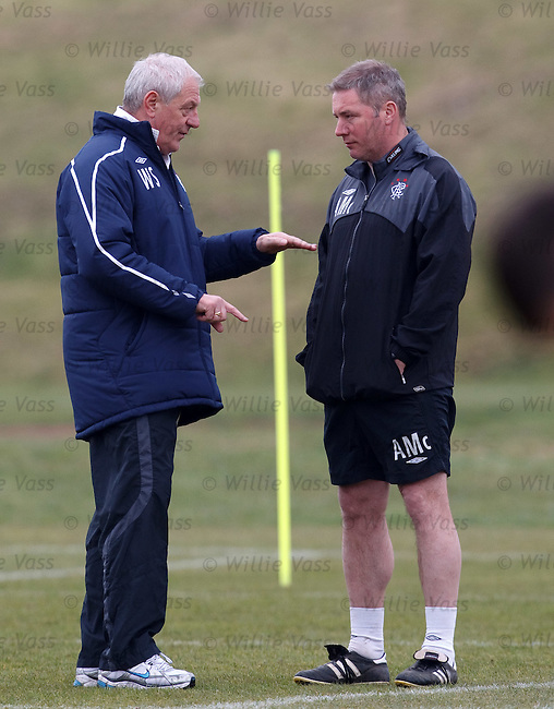 Walter Smith giving some advice to Ally McCoist