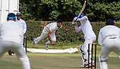 Cricket Scotland - Scotland V Namibia, in this week's 4 day Intercontinental Cup (this is Day 2 - Day 1 was lost to rain) - Scotland bowler Saafyan Sharif in full flow - picture by Donald MacLeod - 07.06.2017 - 07702 319 738 - clanmacleod@btinternet.com - www.donald-macleod.com