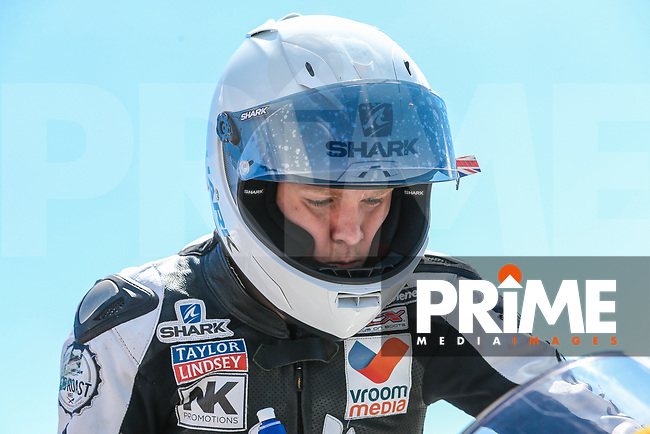 Tom Neave of the Neave Twins team (No. 68) prepares for the Pirelli National Superstock 600 Championship during Round 5 of the 2017 MCE British Superbikes Championship  at Snetterton Circuit, Norwich, England on 2 July 2017. Photo by David Horn.