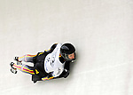 15 December 2006: Kerstin Juergens from Germany, banks through a turn at the FIBT Women's World Cup Skeleton Competition at the Olympic Sports Complex on Mount Van Hoevenburg  in Lake Placid, New York, USA. &amp;#xA;&amp;#xA;Mandatory Photo credit: Ed Wolfstein Photo<br />