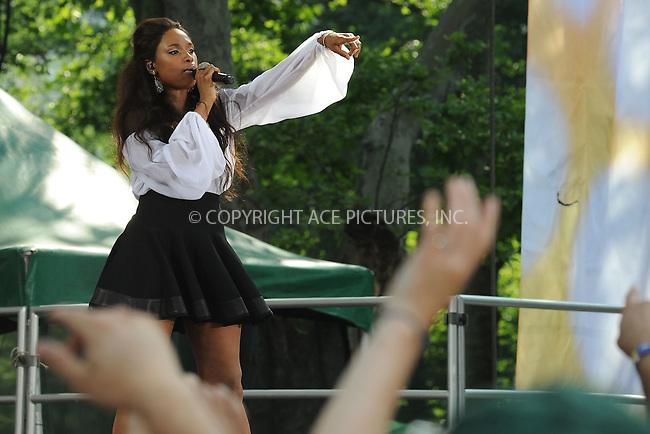WWW.ACEPIXS.COM . . . . . .June 10, 2011...Singer Jennifer Hudson performs on ABC's 'Good Morning America' at Rumsey Playfield, Central Park on June 10, 2011 in New York City.....Please byline: KRISTIN CALLAHAN - ACEPIXS.COM.. . . . . . ..Ace Pictures, Inc: ..tel: (212) 243 8787 or (646) 769 0430..e-mail: info@acepixs.com..web: http://www.acepixs.com .