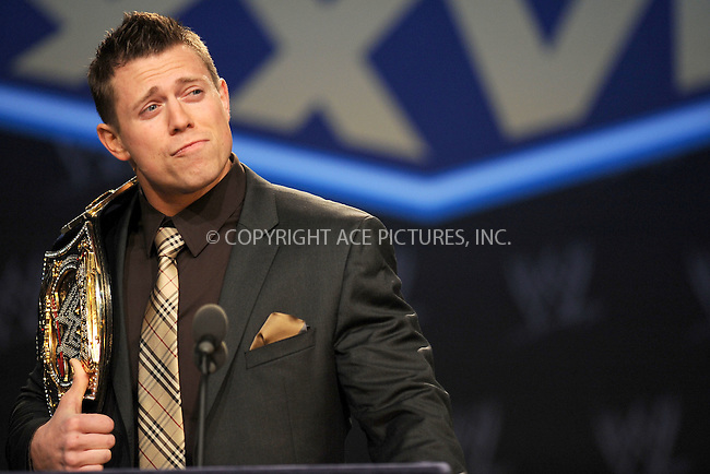 WWW.ACEPIXS.COM . . . . . .March 30, 2011...New York City...The Miz attends the WWE  Wreslemania XXVII Press Conference at the Hard Rock Cafe on  March 30, 2011 in New York City....Please byline: KRISTIN CALLAHAN - ACEPIXS.COM.. . . . . . ..Ace Pictures, Inc: ..tel: (212) 243 8787 or (646) 769 0430..e-mail: info@acepixs.com..web: http://www.acepixs.com .
