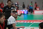 Patrick Wilson (GB)<br /> BISFed 2018 World Boccia Championships <br /> Exhibition Centre Liverpool<br /> 12.08.18<br /> &copy;Steve Pope<br /> Sportingwales