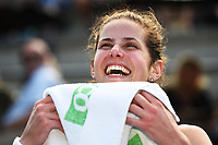 Julia Goerges from Germany after winning the ASB Classic WTA Women's Tournament Day 7 Singles Final. ASB Tennis Centre, Auckland, New Zealand. Sunday 7 January 2018. ©Copyright Photo: Chris Symes / www.photosport.nz