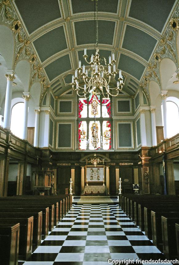 Sir Christopher Wren: St. Andrew Holborn, London 1684-90. Interior.