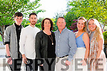 Silver Family<br /> -----------------<br /> L-R Ronan,Joseph Jnr, Mary, Joe,Grace&amp;Rachel Kinsella from Kerins Pk,Tralee celebrated their 25th wedding anniversary in the Ballygarry house hotel last Friday evening.