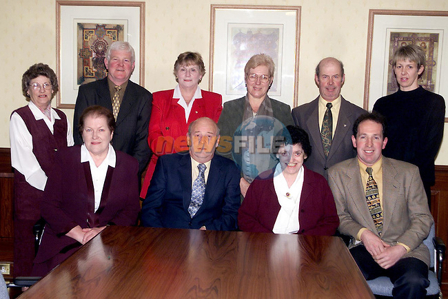 Dunleer Credit Union Board of Directors. Back Row L/R, Breda Fogarty, Frank McGahon, May Comer, Sarah Stokes, Fintan Matthews and Sandra o'Brien. Front Row L/R, Aileen Callan, Frank Keaskin (chairman), Cepta Morgan (treasurer) and Frankie Clare (vice chairman)..Picture Paul Mohan Newsfile