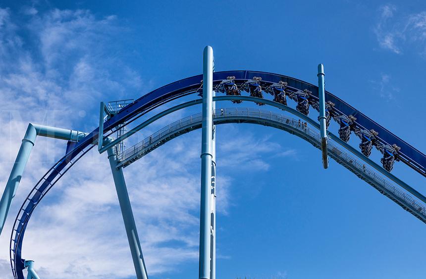 Manta roller coaster, SeaWorld, Orlando, Florida, USA.