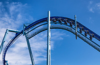 Manta roller coaster, SeaWorld, Orlando, Florida, USA.