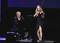 LOS ANGELES - SEPTEMBER 19:  David Foster and Caroline Campbell at the 2017 Grammy Museum Gala Honoring David Foster at The Novo on September 19, 2017 in Westwood, California. (Photo by Scott Kirkland/PictureGroup)