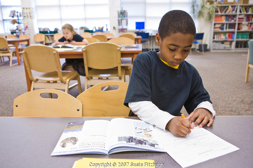 Madrona K-8 School in Seattle, WA: Research in the School Library