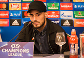 31st October 2017, San Paolo Stadium, Naples, Italy; UEFA Champions League; Pre Match Press Conference; SSC Napoli versus Manchester City; Midfielder David Silva of Manchester City looks on during the press conference