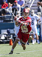 Washington, DC - March 31, 2018: Denver Pioneers Aaron Boyd (15) passes the ball during game between Denver and Georgetown at  Cooper Field in Washington, DC.   (Photo by Elliott Brown/Media Images International)