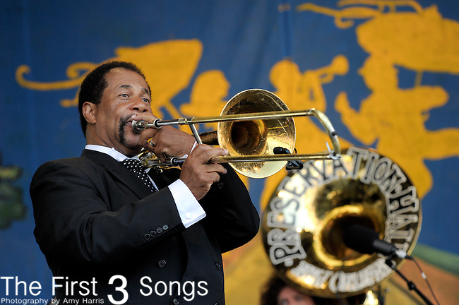 Preservation Hall and Friends perform during the New Orleans Jazz & Heritage Festival in New Orleans, LA on May 6. 2012.