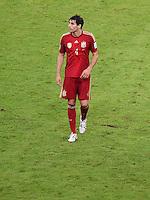 FUSSBALL WM 2014  VORRUNDE    Gruppe B     Spanien - Chile                           18.06.2014 Javi Martinez (Spanien) ist nach dem Abpfiff enttaeuscht