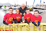 Lifeguard's Kyle O'Donovan Katie Hilliard Brendan O'Connor Andrew O'Callaghan and James O'Connell pictured at Fenit Regatta on Sunday last.