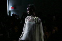 NEW YORK, NY - FEBRUARY 10: Models display creations of Lanyu during New York Fashion Week on February 10, 2019 in  New York.   (Photo by Kena Betancur/VIEWpress)