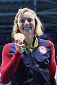 Katie Ledecky (USA), <br /> AUGUST 12, 2016 - Swimming : <br /> Women's 800m Freestyle Medal Ceremony <br /> at Olympic Aquatics Stadium <br /> during the Rio 2016 Olympic Games in Rio de Janeiro, Brazil. <br /> (Photo by Yohei Osada/AFLO SPORT)