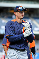 Apr 02, 2011; Bronx, NY, USA; Detroit Tigers outfielder Don Kelly (32) during game against the New York Yankees at Yankee Stadium. Yankees defeated the Tigers 10-6. Mandatory Credit: Tomasso De Rosa