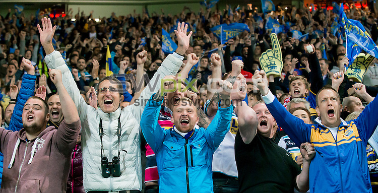 Picture by Allan McKenzie/SWpix.com - 10/10/2015 - Rugby League - First Utility Super League Grand Final - Leeds Rhinos v Wigan Warriors - Old Trafford, Manchester, England - Leeds fans, supporters.