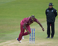 Andre Russell (West Indies) follows through during South Africa vs West Indies, ICC World Cup Warm-Up Match Cricket at the Bristol County Ground on 26th May 2019