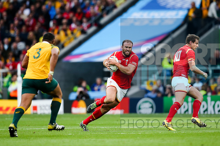 Wales' Jamie Roberts - Rugby World Cup 2015 - Pool A - Australia v Wales - Twickenham Stadium - London- England - 10th October 2015 - Picture Charlie Forgham Bailey/Sportimage