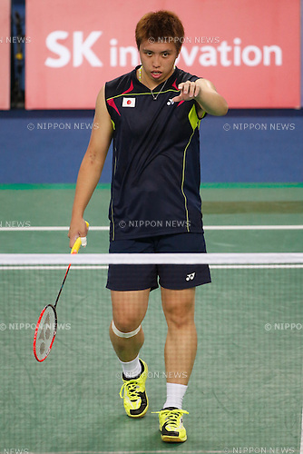 Kenichi Tago (JPN), <br /> SEPTEMBER 21, 2014 - Badminton : <br /> Men's Team Round 2 <br /> at Gyeyang Gymnasium <br /> during the 2014 Incheon Asian Games in Incheon, South Korea. <br /> (Photo by AFLO SPORT) [1180]