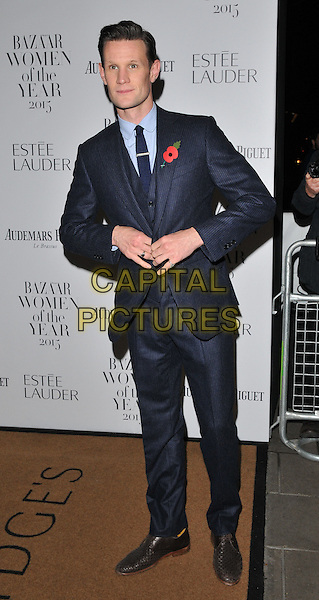 Matt Smith attends the Harper's Bazaar Women of the Year Awards 2015, Claridge's Hotel, Brook Street, London, England, UK, on Tuesday 03 November 2015. <br /> CAP/CAN<br /> &copy;Can Nguyen/Capital Pictures