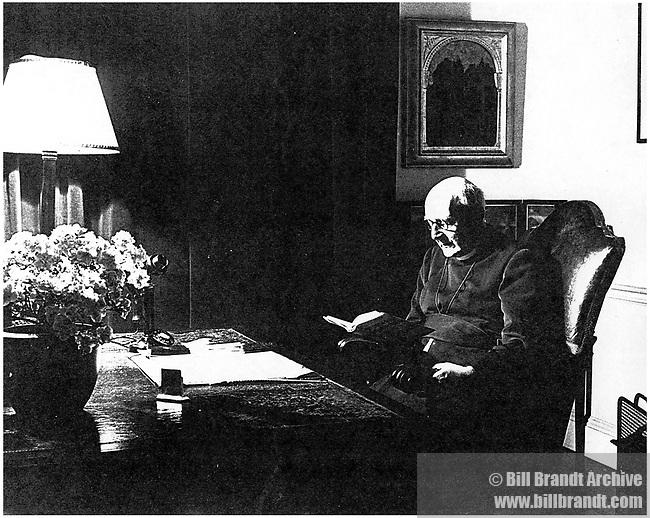 Bishop reading, 1940s