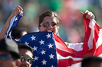 PASADENA, CA – June 25, 2011: USA fan during the Gold Cup Final match between USA and Mexico at the Rose Bowl in Pasadena, California. Final score USA 2 and Mexico 4.