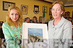 CIVIC AWARD: Fomer Town and County Councillor, Maeve Spring, receives a special civic award on behalf of Tralee Town Council from Mayor Miriam McGillycuddy on Friday.   Copyright Kerry's Eye 2008