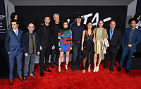 LOS ANGELES, CA. February 05, 2019: Keean Johnson, Jackie Earle Haley, Ed Skrein, James Cameron, Lana Condor, Robert Rodriguez, Rosa Salazar, Jennifer Connelly, Jon Landau &amp; Jorge Lendeborg Jr. at the premiere for &quot;Alita: Battle Angel&quot; at the Regency Village Theatre, Westwood.<br /> Picture: Paul Smith/Featureflash